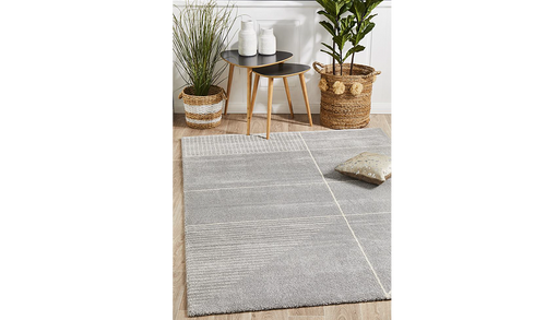 Brydie Silver Abstract Power Loomed Rug