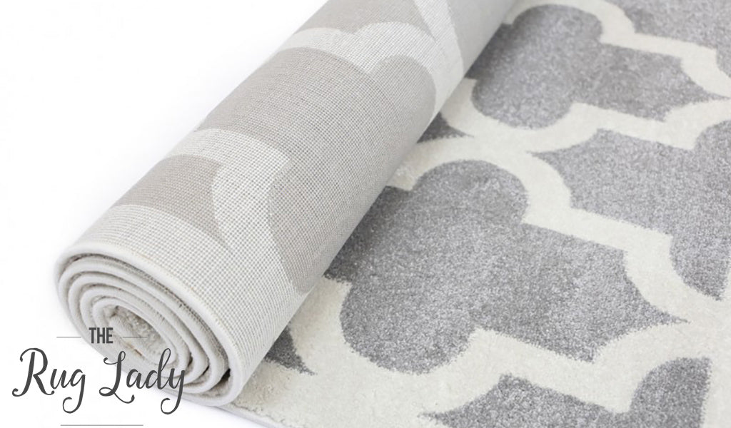 Bambino Light Grey White Lattice Pattern Rug