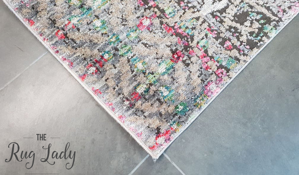 Bella Multicoloured Classic Distressed Vintage Rug