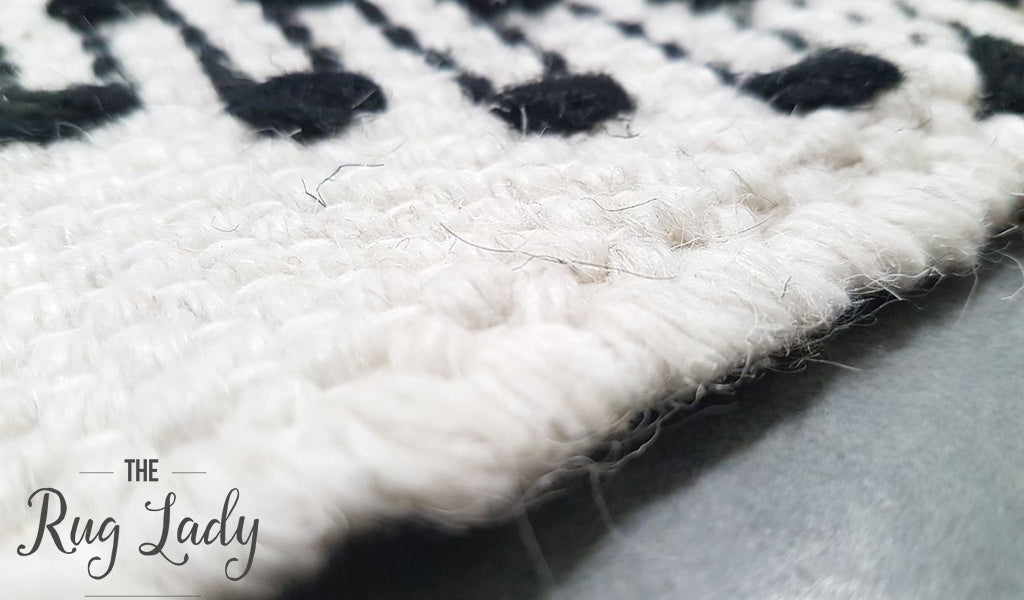 Bohemian White Black Hand Loomed Textured Rug The Rug Lady