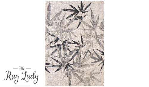 Caprice Grey Botanical Art-Silk Rug