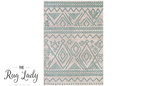 Caprice Blue Tribal Art-Silk Rug