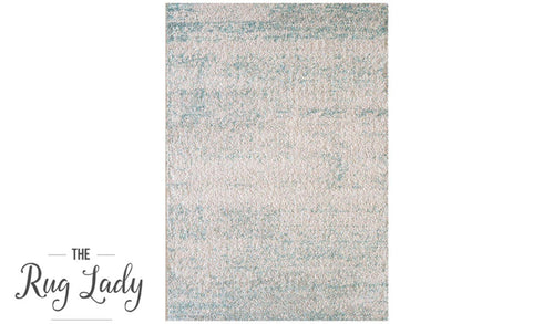 Caprice Blue Canvas Art-Silk Rug