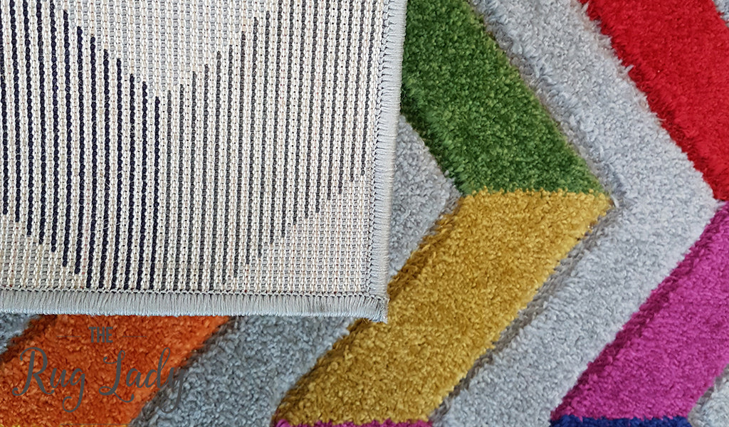 Candy Crush Rainbow Grey Herringbone