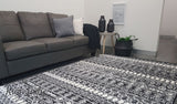 Festival Black White Tribal Pattern Rug
