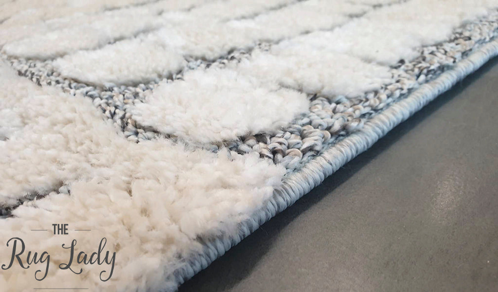 Chloe Light Grey White Abstract Lines Textured Rug