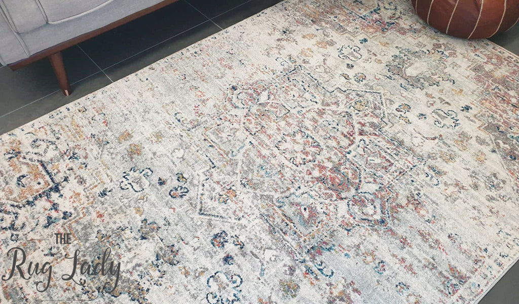Celine Silver Multi Colour Medallion Rug