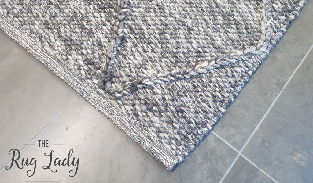 Darcy Diamond Charcoal Felted Wool Rug