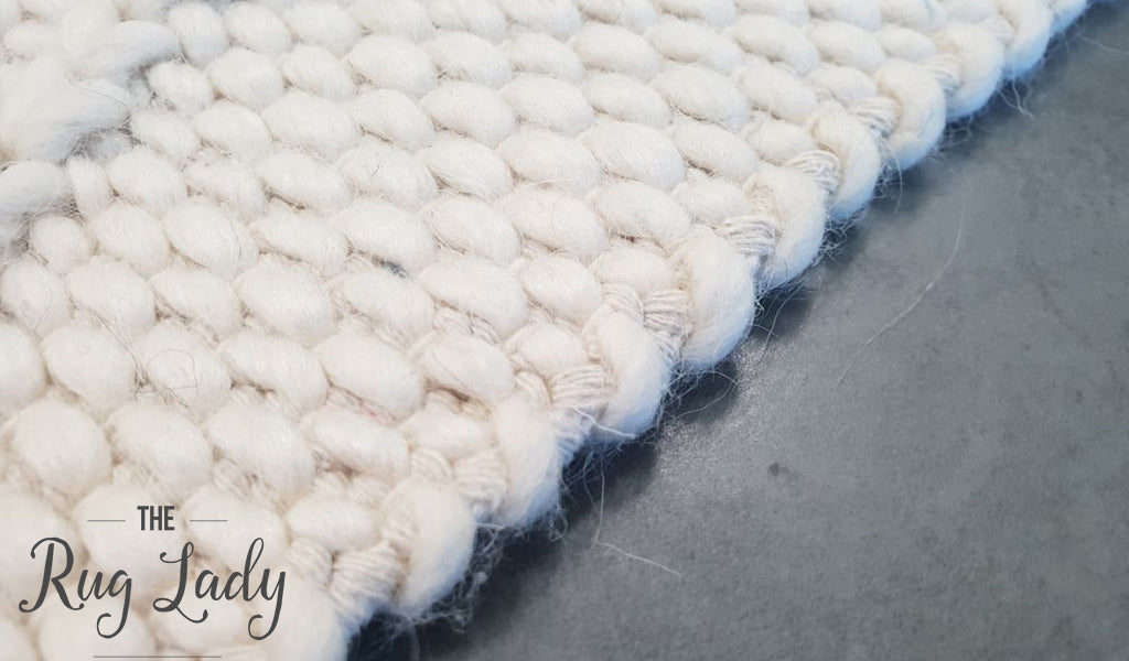 Darcy Diamond Cream Felted Wool Rug