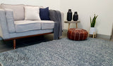 Darcy Blue Grey Felted Wool Rug