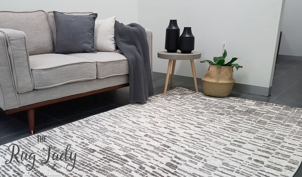 Deluxe Boho Ivory Abstract Rug