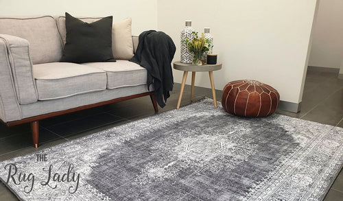 Spirit Grey Medallion Transitional Rug