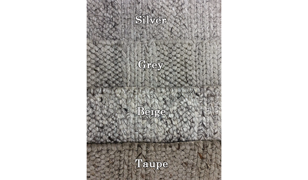 Queen Taupe Hand Loomed Wool Rug