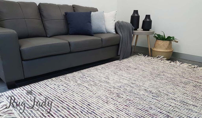 Missy Purple Loop Pile Wool Rug