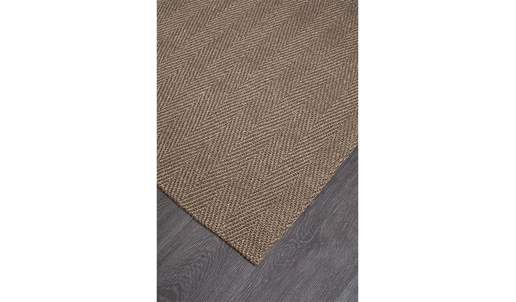 Nature Sisal Brown Herringbone Boucle Rug