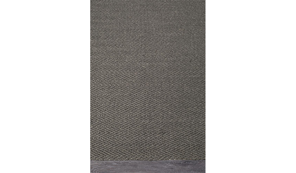 Nature Sisal Charcoal Herringbone Boucle Rug