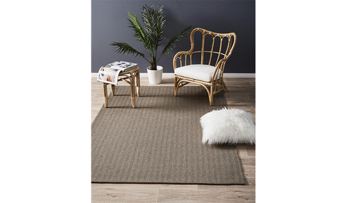 Nature Sisal Grey Herringbone Boucle Rug