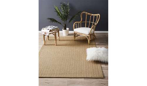 Nature Sisal Light Brown Herringbone Boucle Rug