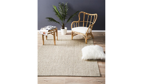 Nature Sisal Light Beige Tiger Eye Boucle Rug