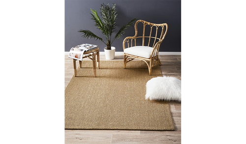 Nature Sisal Light Brown Tiger Eye Boucle Rug
