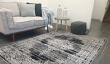 Ellie Dark Grey Medallion Pattern Rug