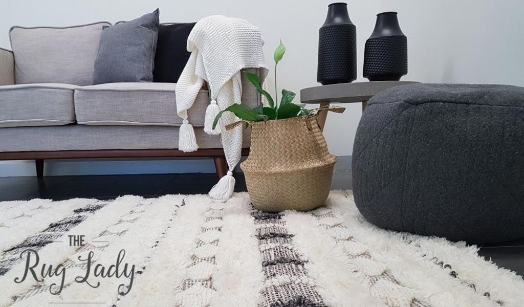 Everly Ivory Tribal Textured Boho Rug