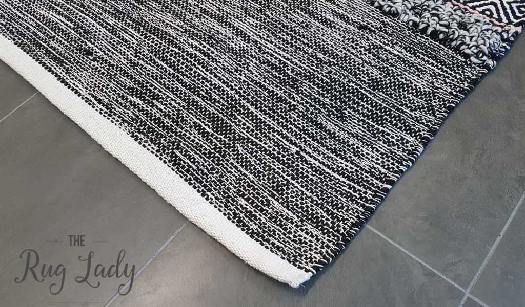 Everly Grey Multicoloured Textured Boho Rug