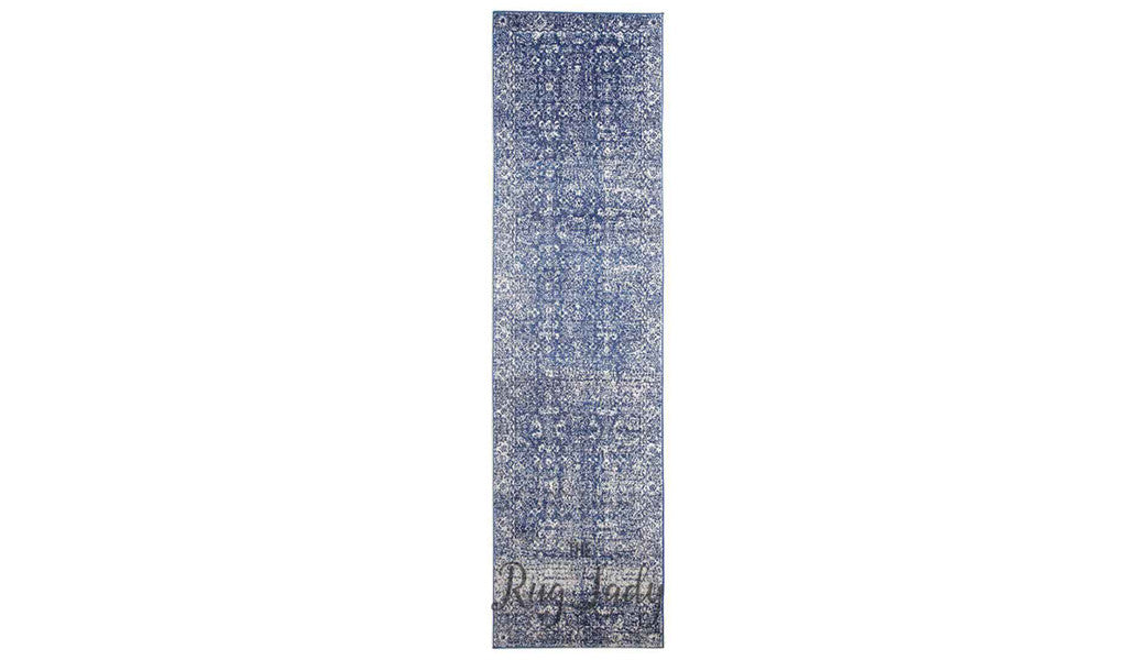 Awaken Navy Blue Overdyed Power Loomed Hallway Runner