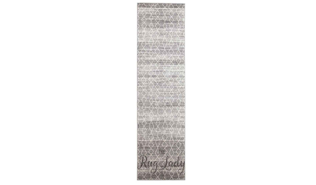 Awaken Silver Diamond Power Loomed Hallway Runner
