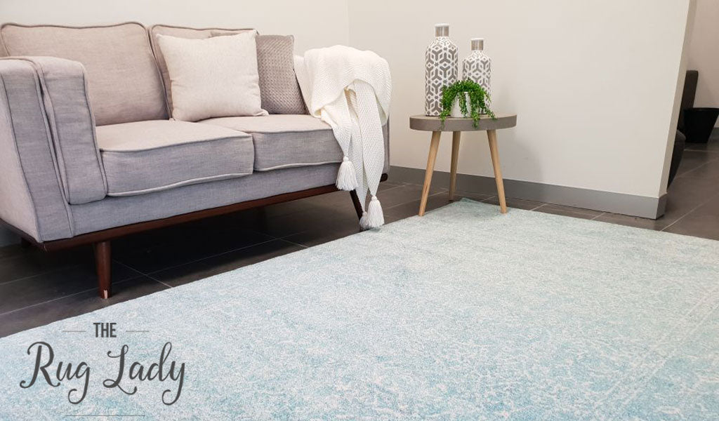 Awaken Blue Cream Oriental Rug