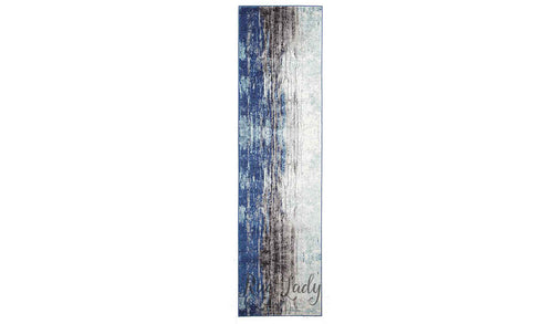 Awaken Blue Canvas Power Loomed Hallway Runner