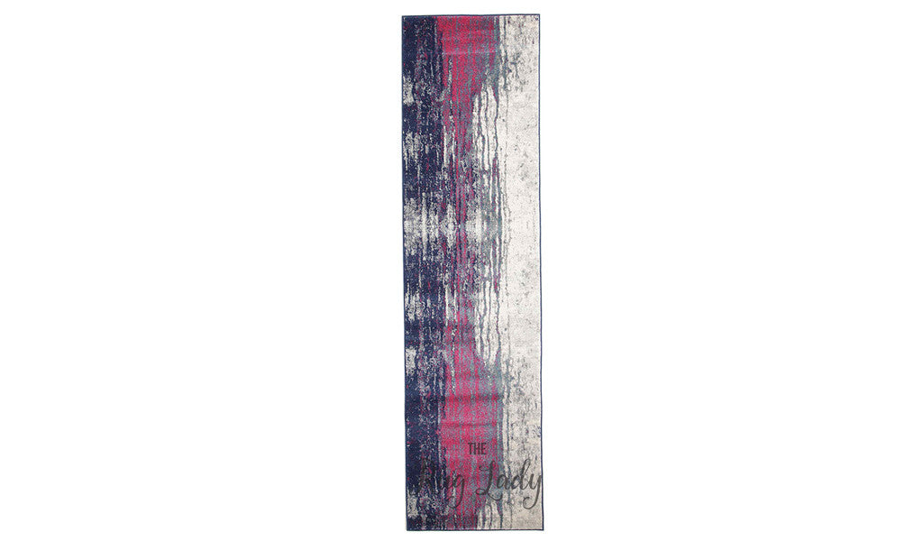 Awaken Stone Canvas Power Loomed Hallway Runner