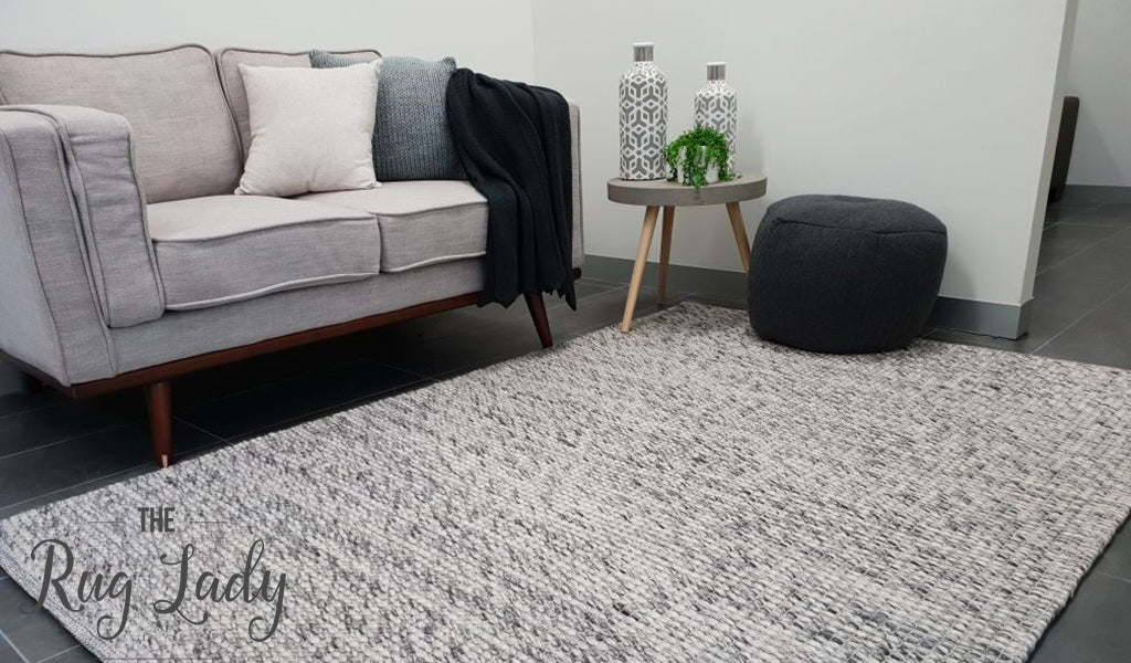 Darcy Grey Felted Wool Rug