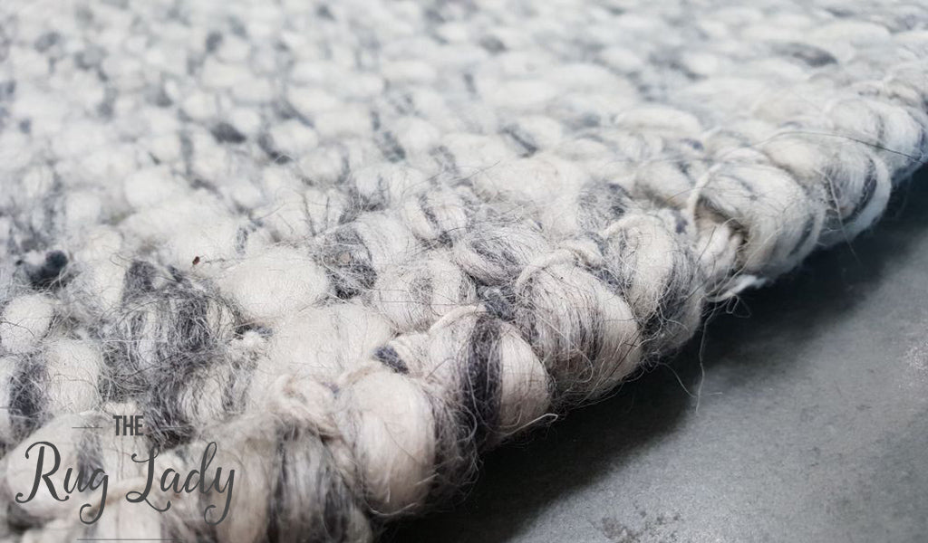 Essence Scandinavian Grey Felted Wool Rug
