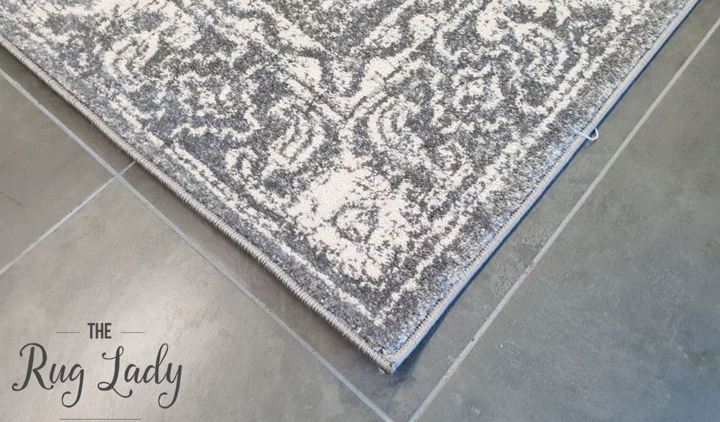 Awaken Grey Power Loomed Rug