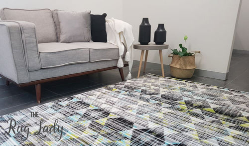 Freedom Multi Colour Geometric Diamond Pattern Rug