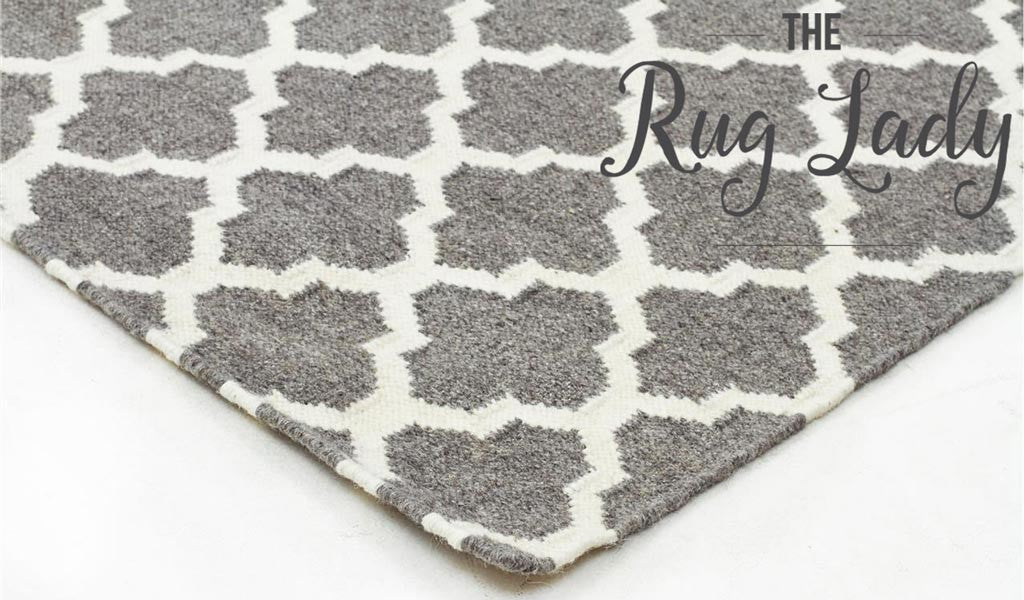 Grey Moroccan Scandinavian Wool Rug