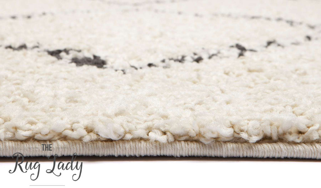 Gypsy Agadir Natural White Tribal Power Loomed Rug