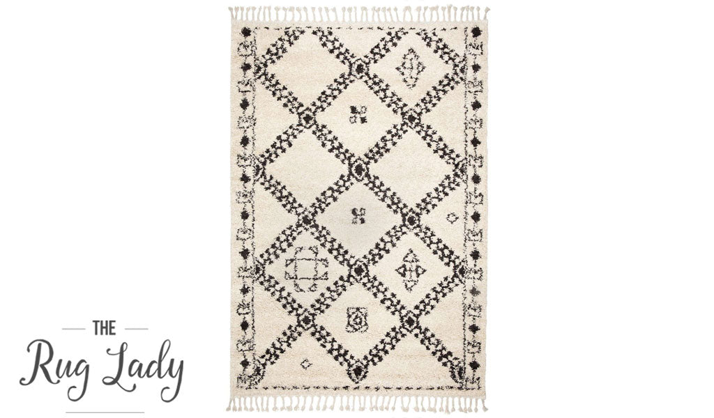 Gypsy Tangir Natural White Tribal Power Loomed Rug