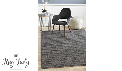 Harvey Charcoal Textured Wool Rug