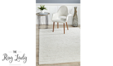 Harvey Ivory Textured Wool Rug