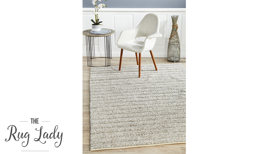 Harvey Natural Beige Textured Wool Rug
