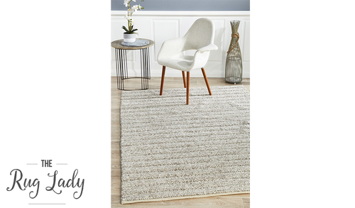 Harvey Beige Textured Wool Rug