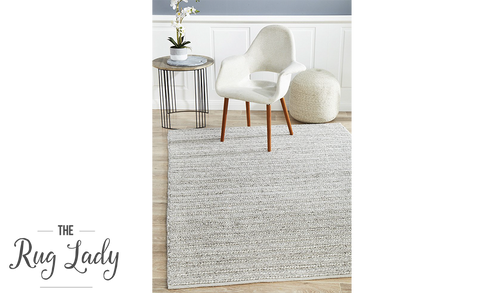 Harvey Silver Textured Wool Rug