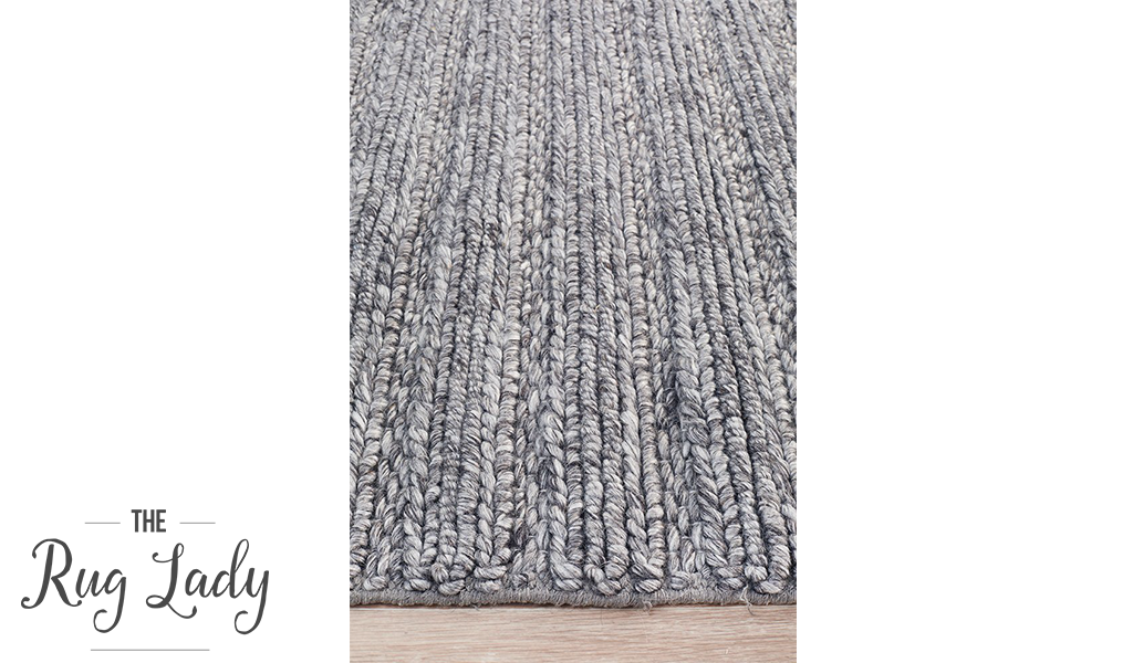 Harvey Grey Textured Wool Rug
