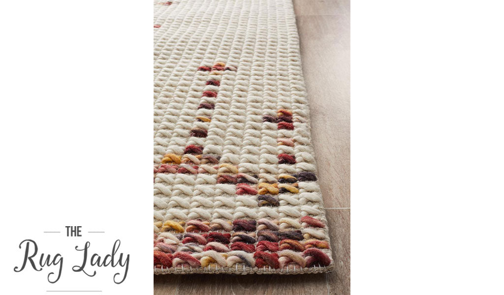 Harlow Multicoloured Aztec Felted Wool Rug