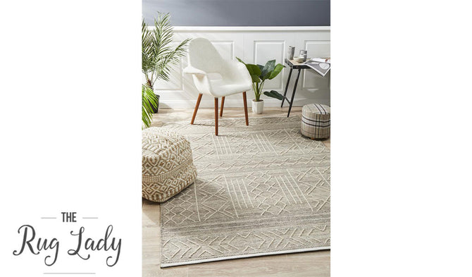 Harlow Natural Ethnic Felted Wool Rug