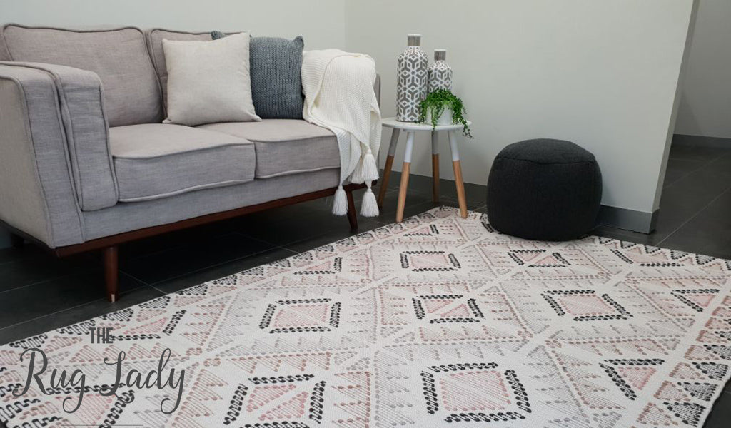 Harlow Multicoloured Tribal Diamonds Flatweave Rug