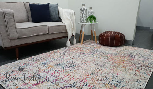 Heaven Multicolour Tribal Geometric Diamond Rug
