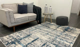 Iris Blue Grey Abstract Rug